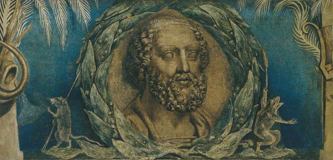 William Blake - Homer - Manchester City Gallery - Tempera on canvas c 1800
