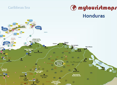 Interactive tourist map HONDURAS