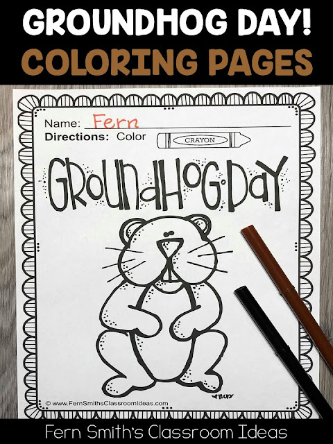 Groundhog Day Free Printables + Coloring Pages - | 640x480