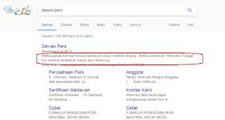 Situs web Dewanpers Tumbang diretas oleh defacer