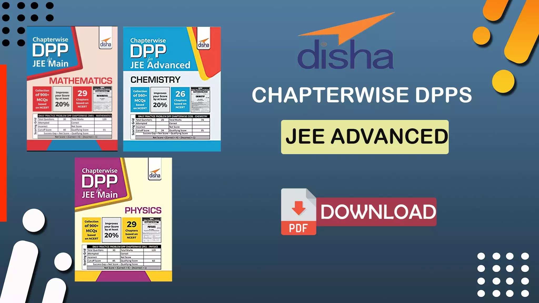 Disha Chapterwise DPPs for JEE Advanced