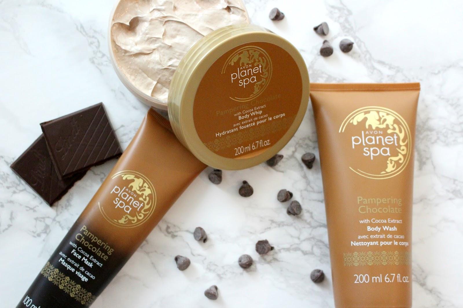 Avon planet spa pampering chocolate bundle samantha jane for Plante salon