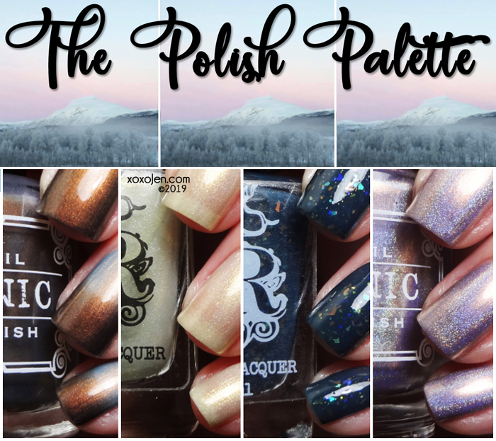 xoxoJen's swatch of The Polish Palette: Feb 2019 Mountain Scene