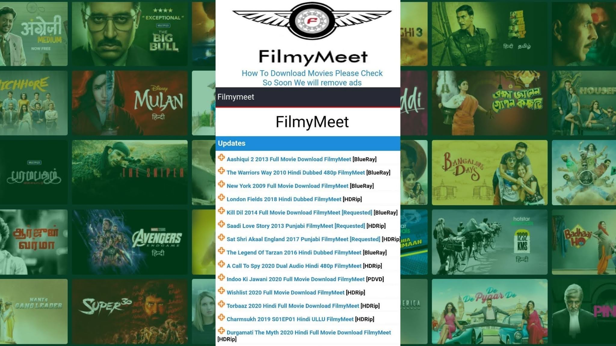 FilmyMeet 2021 Download Bollywood, Hollywood Hindi Dubbed Movies