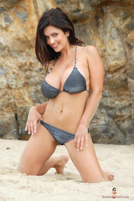 Denise-Milani-Beach-Silver-bikini-hottest-photoshoot-pics-10