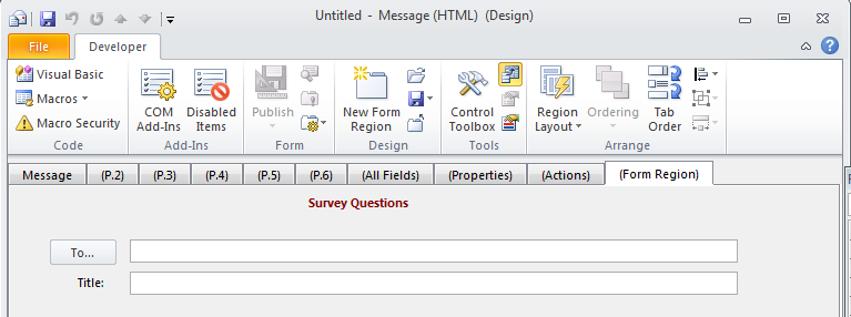 Converting an Outlook Form Template (OFT) to a  NET Windows