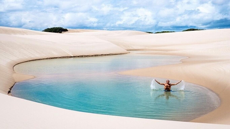 브라질에 있는 사막 석호