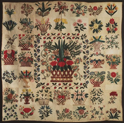 Botanical Album Quilt 1840-1845 Philadephia Museum of Art