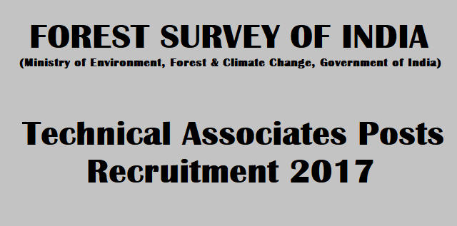 Latest jobs, Recruitment, Notification, Forest Survey of India, FSI Recruitment, Technical Associates, www.fsi.nic.in