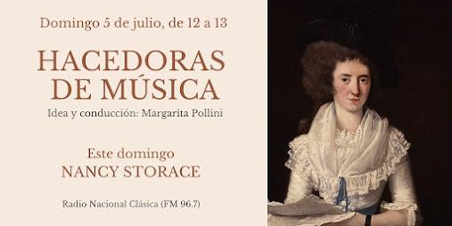 Nancy Storace, émission de Radio Nacional Clásica