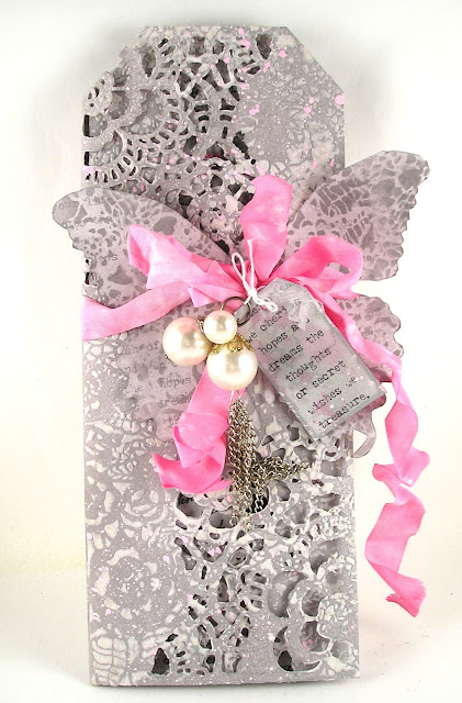 Tim Holtz Layering Stencil Doily Sizzix Mixed Media #2 Die Idea-Ology Baubles Paper Doll Stampers Anonymous Nature Walk For the Funkie Junkie Boutique