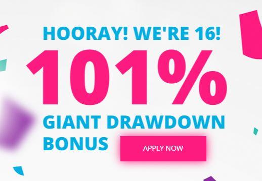 FreshForex 101% Deposit Bonus - Tradable Bonus