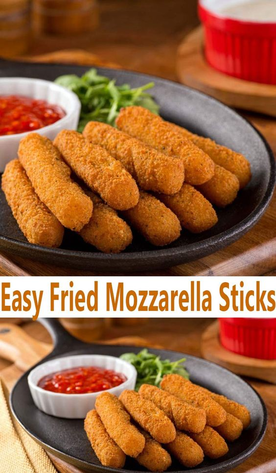 EASY FRIED MOZZARELLA STICKS RECIPE