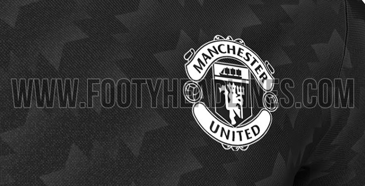 6f893b36a The Manchester United 2017-18 away shirt combines the colors black and  white with a unique 1990s-inspired graphic print.