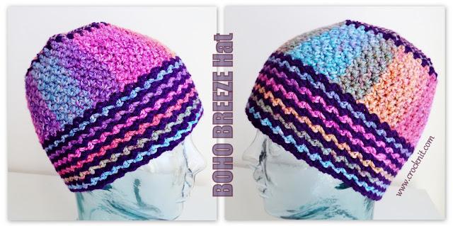 how to crochet, crochet patterns, hats, beanies, boho, hippy, gypsy,