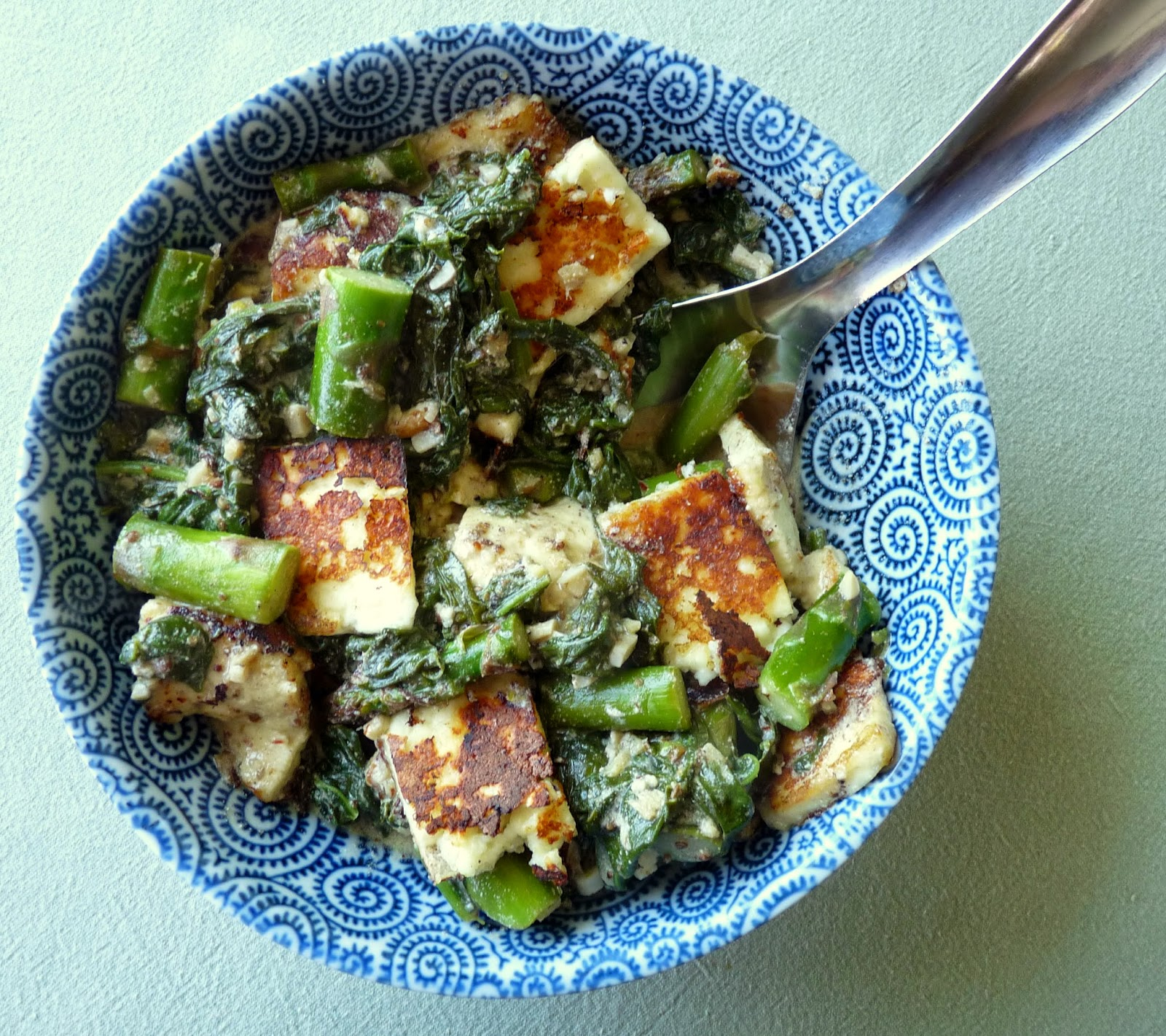Spinach & Asparagus with Paneer