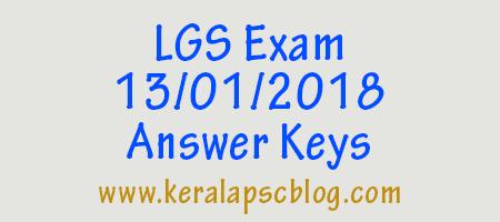Last Grade Servants Exam 13-01-2018 Answer Keys
