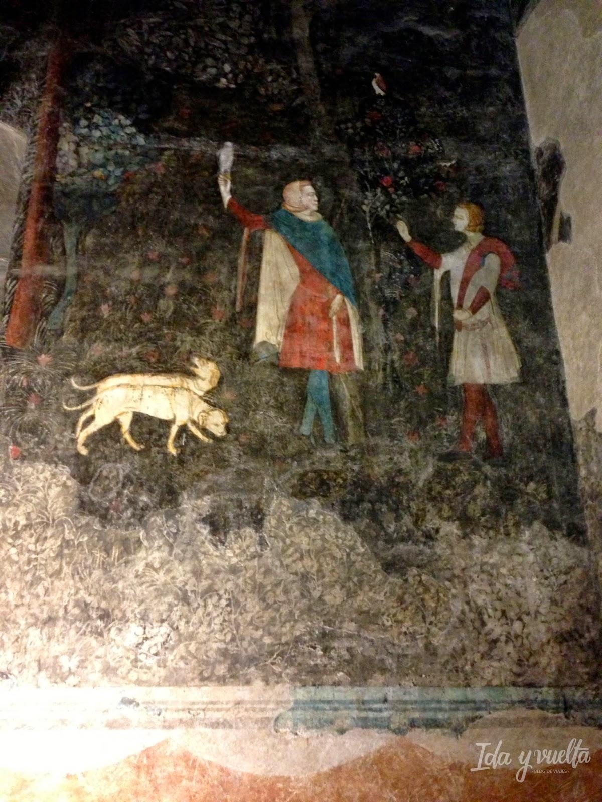Fresco de la Habitación de Caza en el Palacio de los Papas