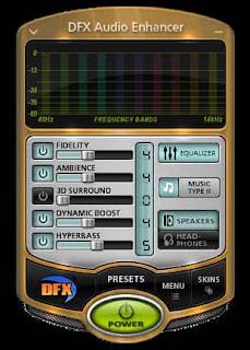 برنامج DFX Audio Enhancer لزيادة صوت الكمبيوتر مجانا