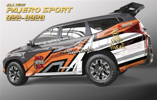 wrapping sticker mobil pajero
