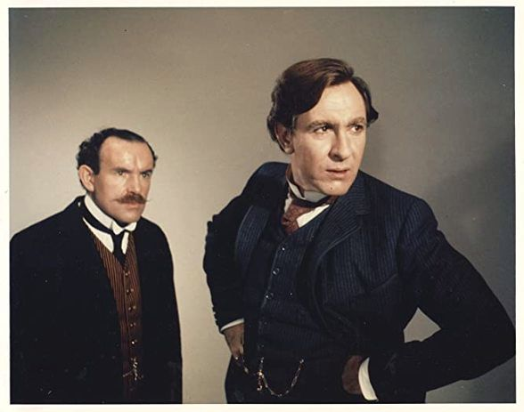 Colin Blakely and Robert Stephens as Dr Watson and Sherlock Holmes