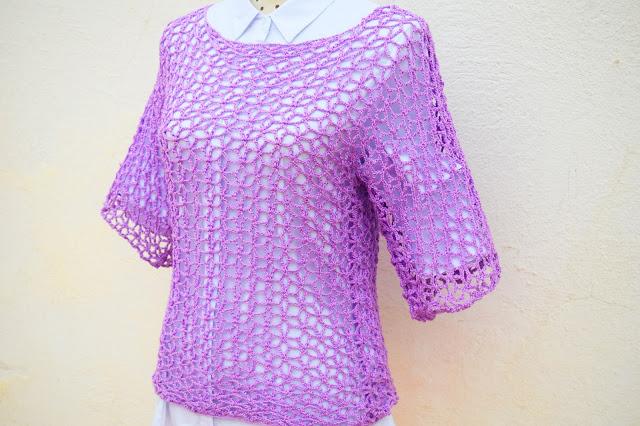 1 - Crochet Imagen Blusa playera a crochet y ganchillo por Majovel crochet