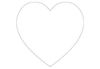 ציורים של לב להדפסה וצביעה