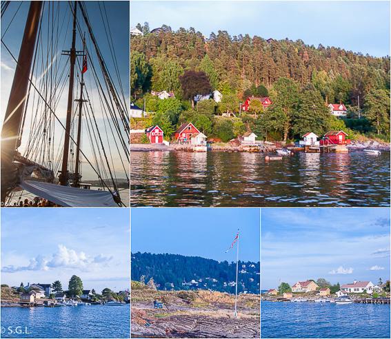 Paseo en barco por el fiordo de Oslo. Noruega