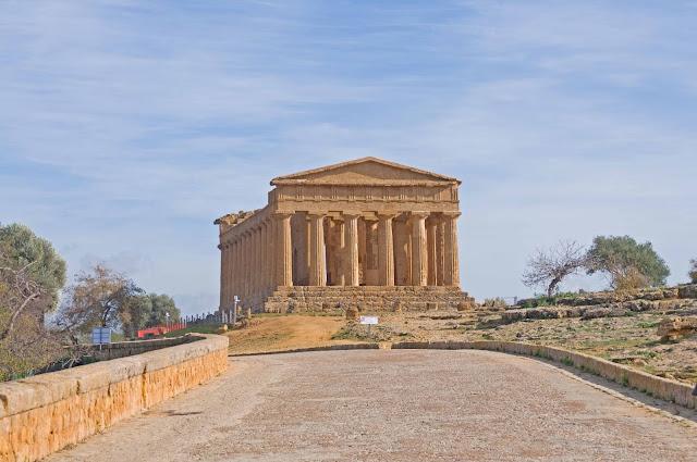 Świątynia Concordii Dolina Świątyń na Sycylii, Palermo i okolice