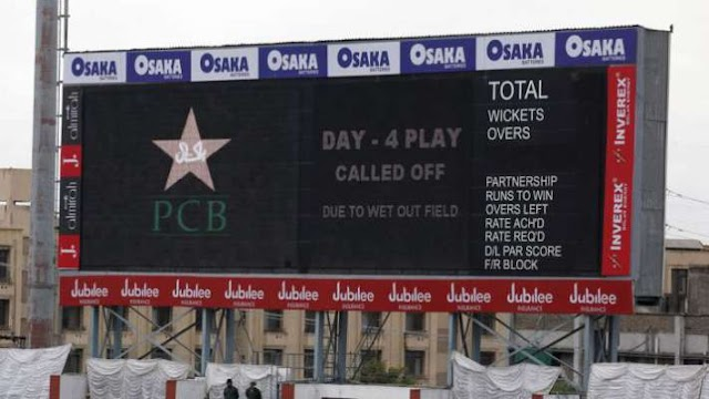 1st Test: Day 4 washed out in Rawalpindi as rain continues to play spoilsport