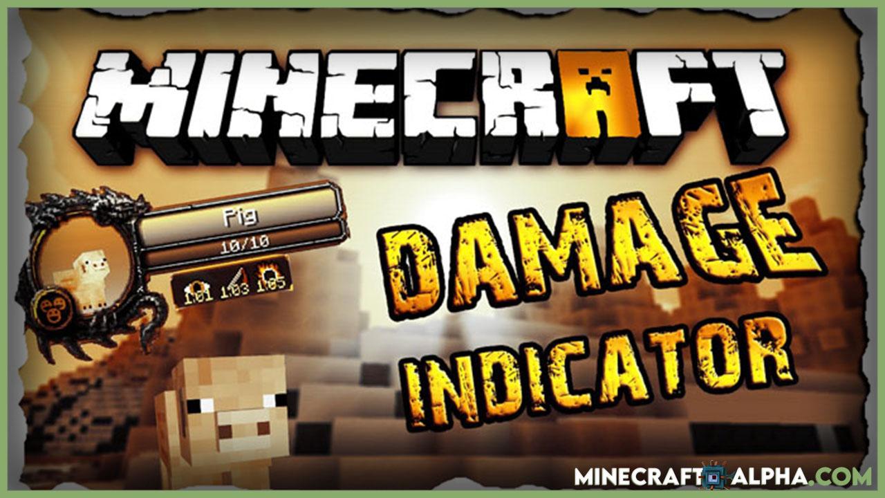 Minecraft ToroCraft's Damage Indicators Mod 1.17.1