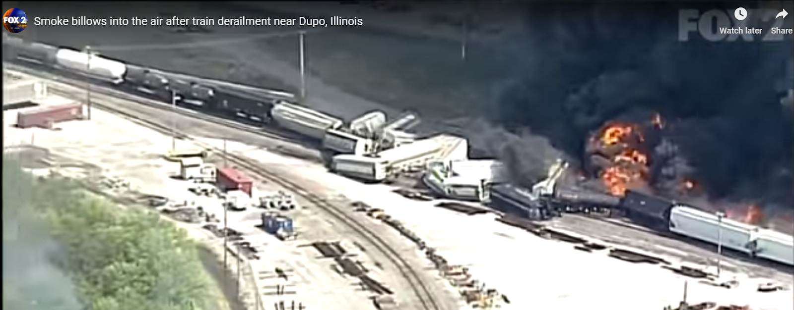 Industrial History: Five derailments and a hazmat fire in a