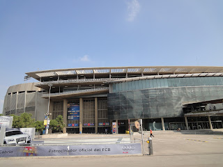 Het buitenaanzicht van Camp Nou