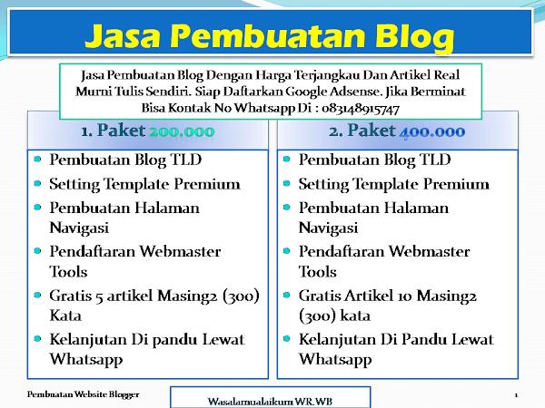 Jasa Edit Template Dan Pembuatan Website Murah