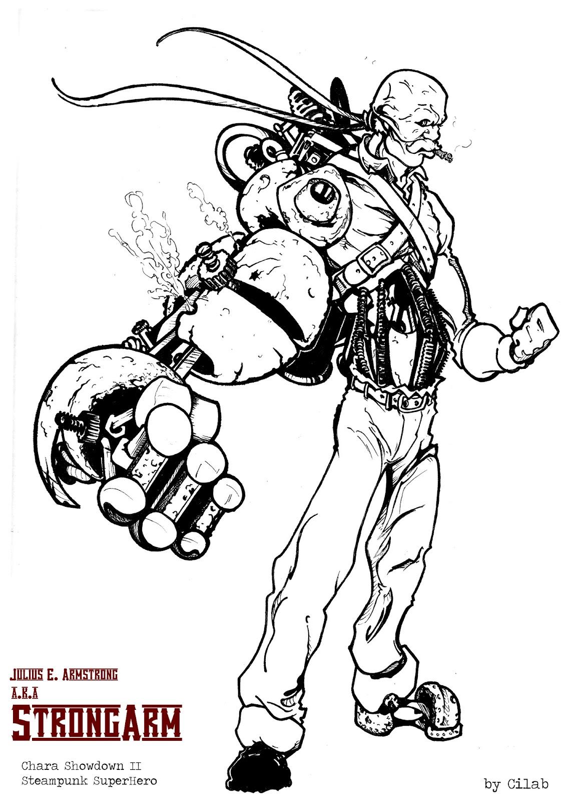 Cedric Lab Steampunk Super Hero