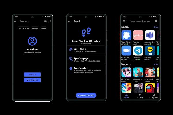Aurora Store, uma alternativa à Play Store de código aberto