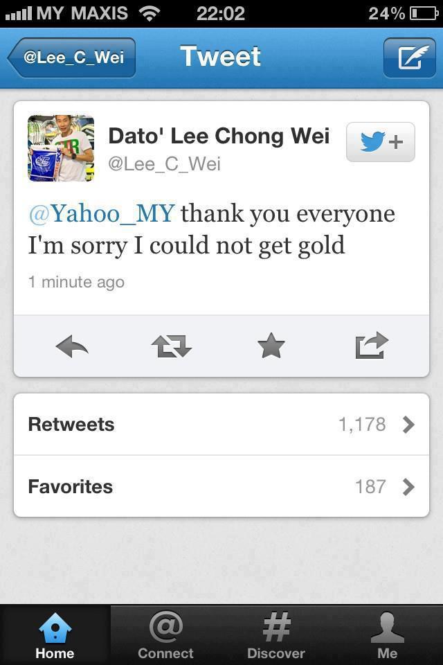 Tahniah Lee Chong Wei...kan bagus kalau semua bersatu...