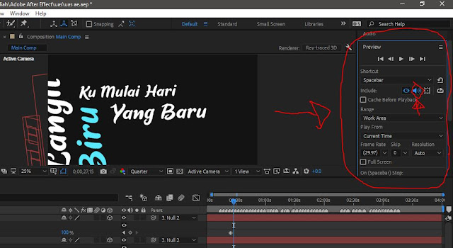 6.  Tambahan : Aktifkan Play Audio In Preview