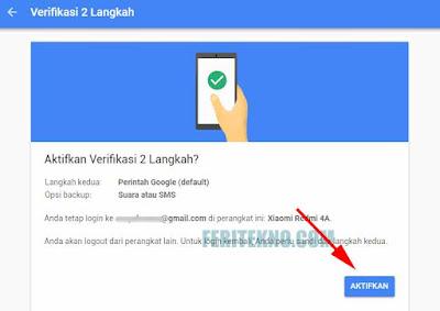 cara membuat ketika login akun gmail membutuhkan kode unik di hp untuk verifikasi 9