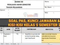 Soal dan Kunci Jawaban UAS/PAS Kelas 5 Tema 6, Tema 7, Tema 8, Tema 9 Semester 2 dan Kisi-Kisi Terbaru