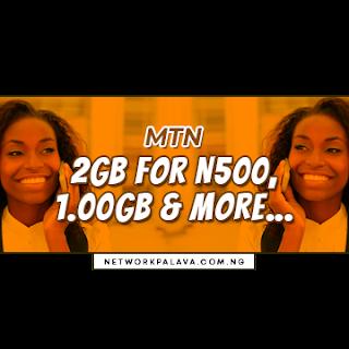 mtn 500 for 2gb code bonus