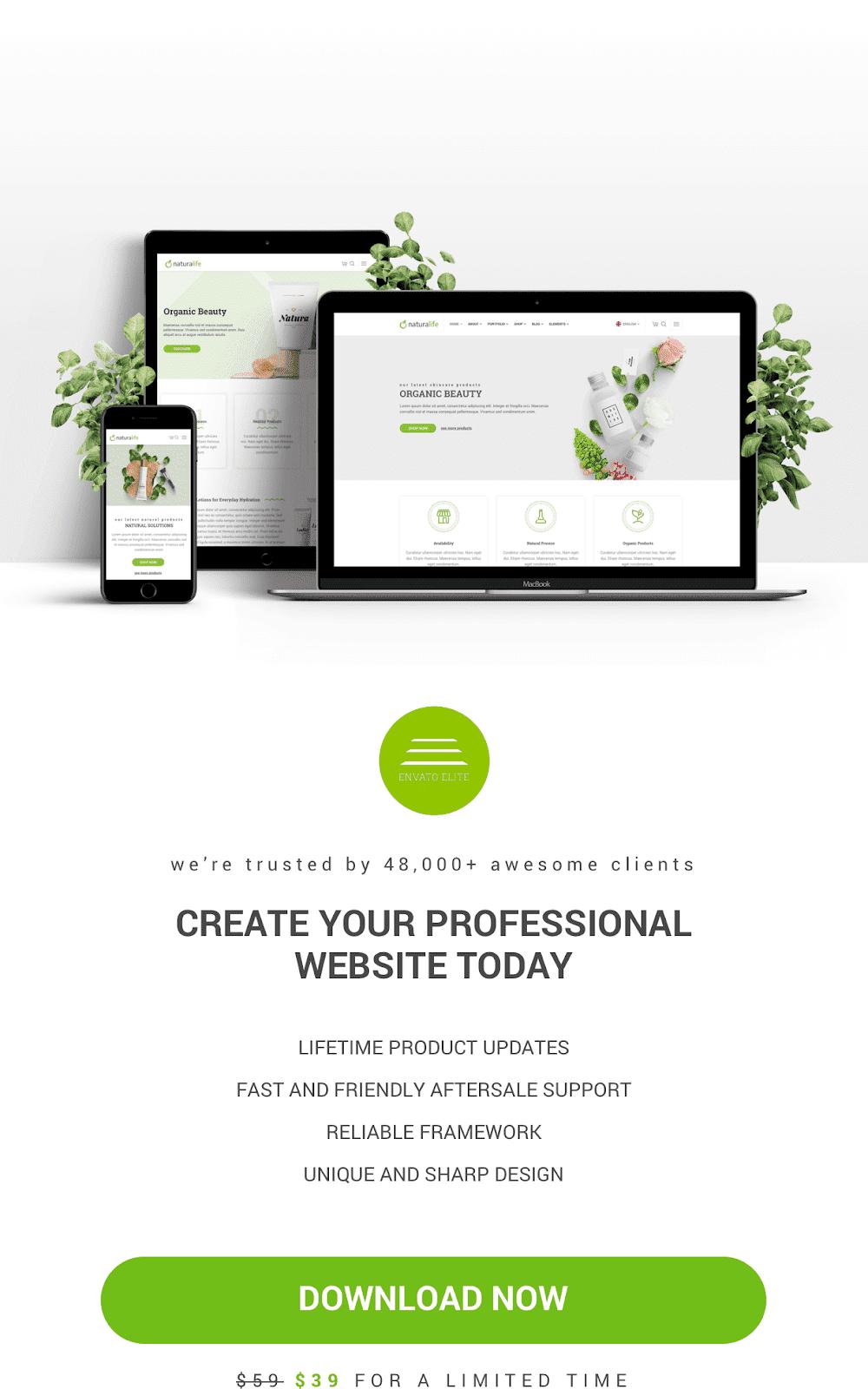 Best Wordpress Theme For Health & Organic - NaturaLife