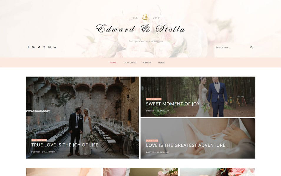 Edward Stella Clean Responsive Blogger Template