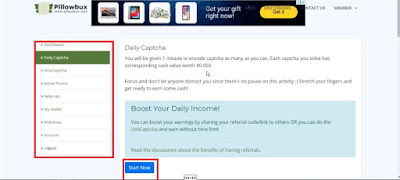 Pillowbux: Earn money just by Playing and Solving Captcha