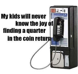 The Unforgotten Joy - old public phone coin
