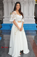 Telugu Actress Amyra Dastur Stills in White Skirt and Blouse at Anandi Indira Production LLP Production no 1 Opening  0117.JPG