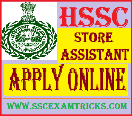HSSC Store Assistant Vacancy