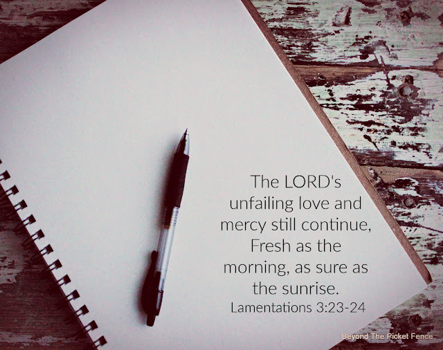 devotional on God's love never fails and his mercies are new every day