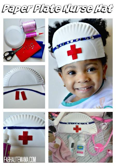Manualidades niños cofia enfermera