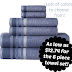 6-piece Bath Towel Set as low as $12.74 on JCPenney.com!